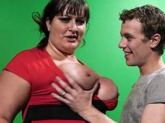 Taboo BBW sex in video studio