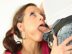 Drilling her tasty young pussy