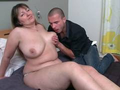 Horny BBW gobbles cock and fucks