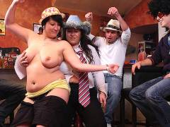 BBW pussy fucking at hat party