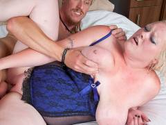 BBW blonde got her pink plowed