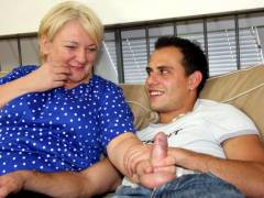 Mature fatty for throbbing cock