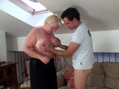 Cock riding fat granny