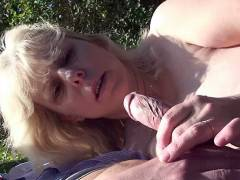 Mature cock pleaser outdoors
