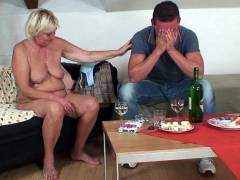 Chubby mature blonde gets laid