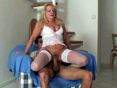 Throbbing cock in mature