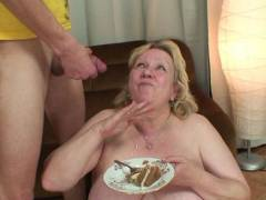 Granny wants cum and cake
