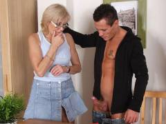 Mother in law in glasses fucked