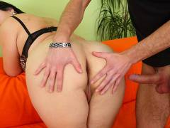 Sizzling sex from behind with a BBW