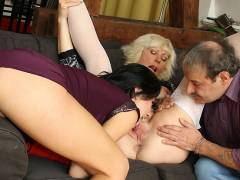 Threesome with the older couple