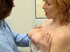 Crazy old mom rides cock