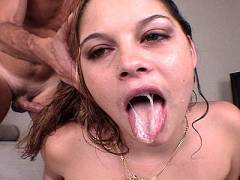 Whore after giving blowjob
